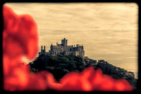 St Michaels Mount in sepia